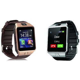 Moto Compatible Bluetooth Smart Watch DZ09 Phone With Camera and Sim Card SD Card Support (Random Colour)