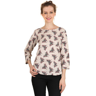 5eabc01b48ce7 Buy Aisa Fashion Women s butterfly printed casual Top Online - Get 71% Off