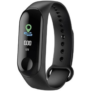 Mobiashta M3 Fitness Band with OLED Curved Display, Whatsapp/Call Notifications, Blood Pressure Heart Rate Sensor, Smart
