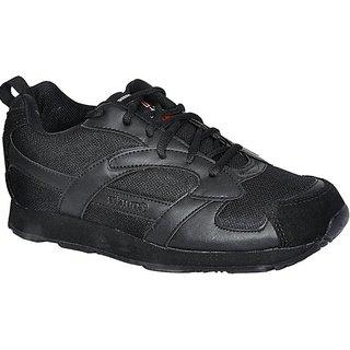 Lakhani Black Sports Running Shoe For Men