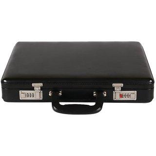 JASHMIN Faux Leather Briefcase Black JB61