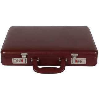 JASHMIN Faux Leather Briefcase Brown JB62