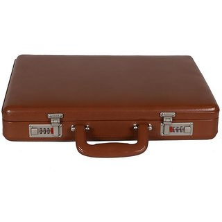 JASHMIN Faux Leather Briefcase Tan JB63