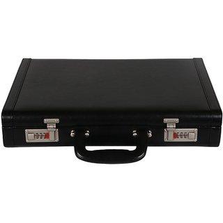 JASHMIN Faux Leather Briefcase Black JB64
