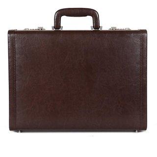 JASHMIN Faux Leather Briefcase Brown JB65