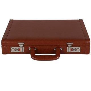 JASHMIN Faux Leather Briefcase Tan JB66