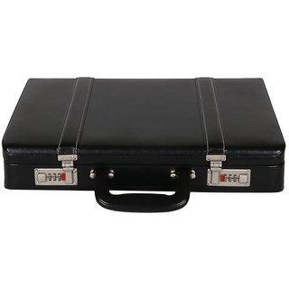 JASHMIN Faux Leather Briefcase Black JB67