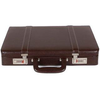 JASHMIN Faux Leather Briefcase Brown JB68