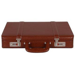 JASHMIN Faux Leather Briefcase Tan JB69