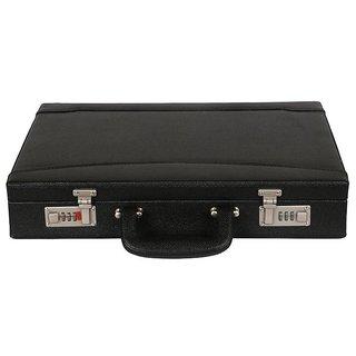 JASHMIN Faux Leather Briefcase Black JB70