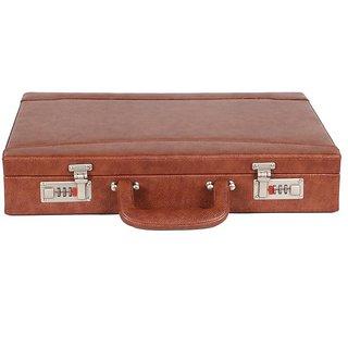 JASHMIN Faux Leather Briefcase Tan JB72