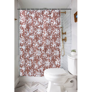 Khushi Creation Premium Floral PVC Shower Curtain Size 72x80 Inches
