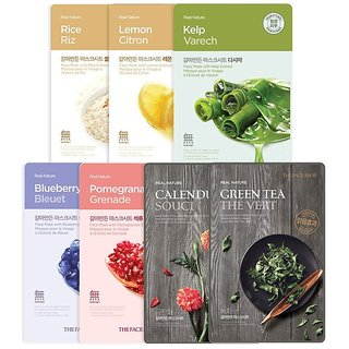 The Face Shop Face Mask Bestseller Combo, Pack of 7