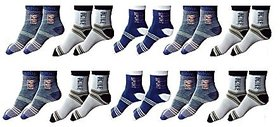 HOme Fantasy Ankle Socks Set Of 10 Pairs