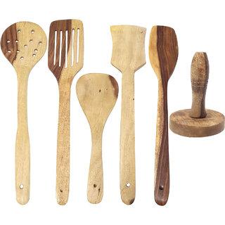 Desi Karigar Wooden Kitchen Tool Set Of 6