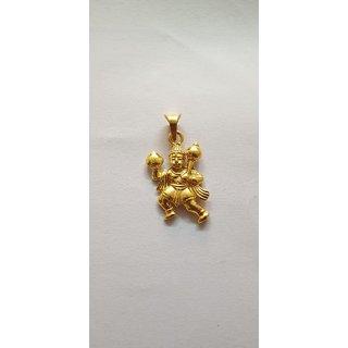 Bajrang Bali Pendant With Gold Plating
