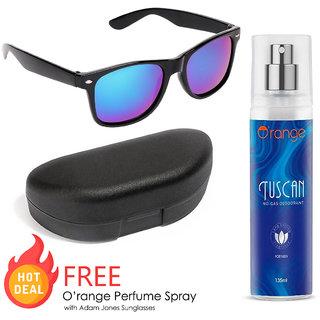 Adam Jones Men Wayfarer Sunglasses With Free Orange Tuscan Perfume Spray