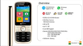 Micromax V407 Bharat 1 4g Volte With Bsnl Sim Best Deals