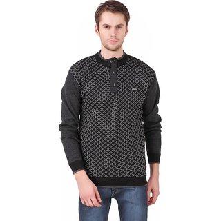 Mens Black Dabbi Check Sweatshirt