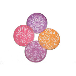 Avneesh Rangoli Stencil Round Shape(8 x 8 Inch) (Set of 4 Piece)