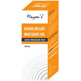 Rapid Relief Massage Oil Eases Muscular Pain