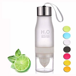 House of Quirk H2O Fruit Infuser Water Bottle BPA Free 650ml (White)