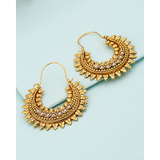 49ac3656b Buy Voylla Moon Design Hoop Earrings For Women Online - Get 46% Off