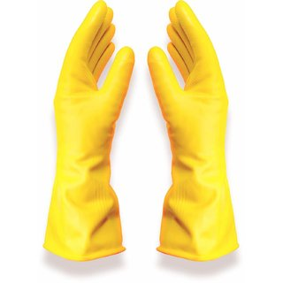 Latex Kitchen  Household Cleaning Gloves By House of Quirk Wash Dishes Cleaning Waterproof Gloves