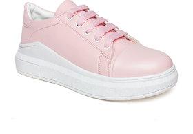 Vendoz Women Pink Sneakers