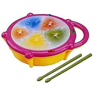 Multi Colored Flash Drum with Music for Kids