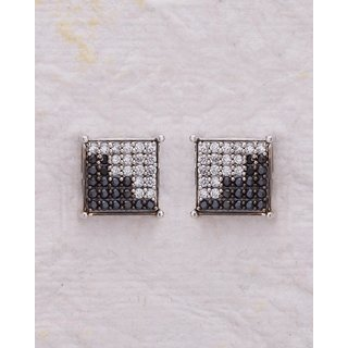 Voylla Studded Monochrome Stud Earrings with CZ For Women