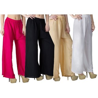 Combo pack of Palazzo pant (Pack of 4) free size