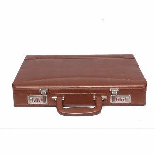 JASHMIN Faux Leather Briefcase BrownJB122