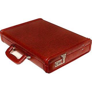 JASHMIN Faux Leather Briefcase Tan JB79