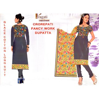 c02044164 Buy Fancy Heavy Work Printed Un-stitched Salwar Suit Dupatta Material Online  - Get 56% Off