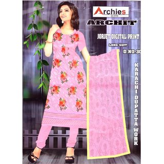 Georget Printed Un-stitched Salwar Suit Dupatta Material