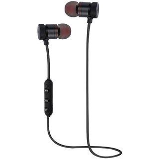 SCORIA M9 Magnet Wireless Bluetooth Earphones Headset Stereo Music Headphones Sport Running Magnetic (Black) Compatible Vivo V5