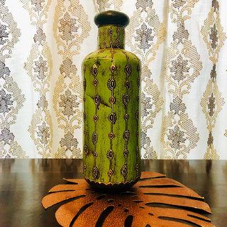Antique Flower Vase Green