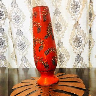 Antique Flower Vase Orange