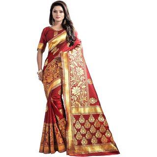 pr creation self design woven havy bnarasi silk saree palty  wear saree with blouse