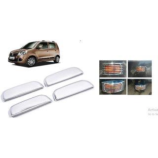 Maruti WagonR Chrome Hande Covers (Triple Layer Chrome Finish) and side indicator chrome cover