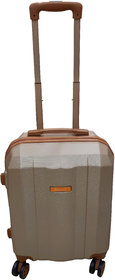 Saccus ABS 24inch Rose Gold Hard Cabin Trolley Bag (4 Double Wheeler)