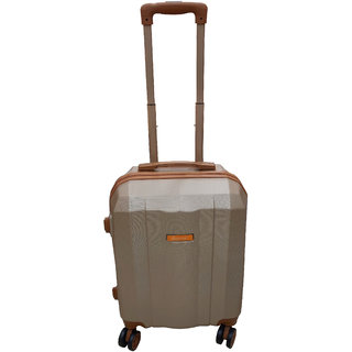 Saccus ABS 24inch Rose Gold Hard Cabin Trolley Bag (4 Double Wheeler)