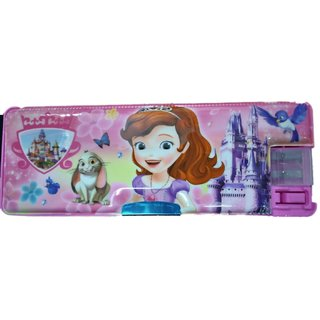 Kids  double side  Pencil Box With LED Lamp and 2 set of painting brush free for gifting on occasions