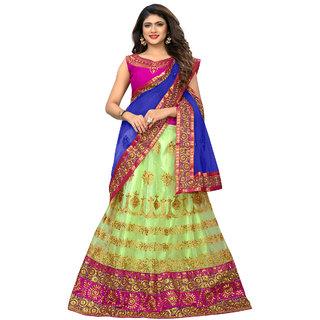 feec58533b6 Buy RJ Trandz Multicolor Net lehenga Online - Get 53% Off