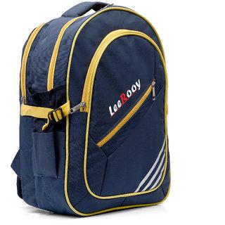 39d526b23f50 Buy LeeRooy Canvas 22 Ltr Blue School Bag Backpack For Unisex Online - Get  31% Off