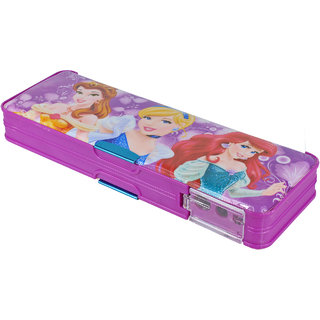 Spero Cartoon Art Pencil Box with Dual Sharpener Pencil Case Pencil Pouch Birthday Gift for Kids