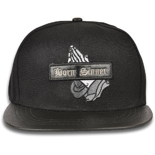 DRUNKEN Mens Casual Embroidered Solid Black Outdoor Hiphop Snapback Cap