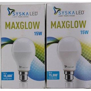 15 W syska led bulb ( COMBO PACK OF 2 BULB)