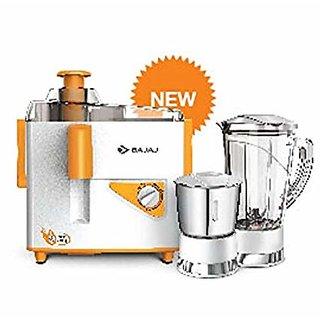 Bajaj Neo JX4 450-Watt Juicer Mixer-Grinder JMG (Orange 2 Jars)